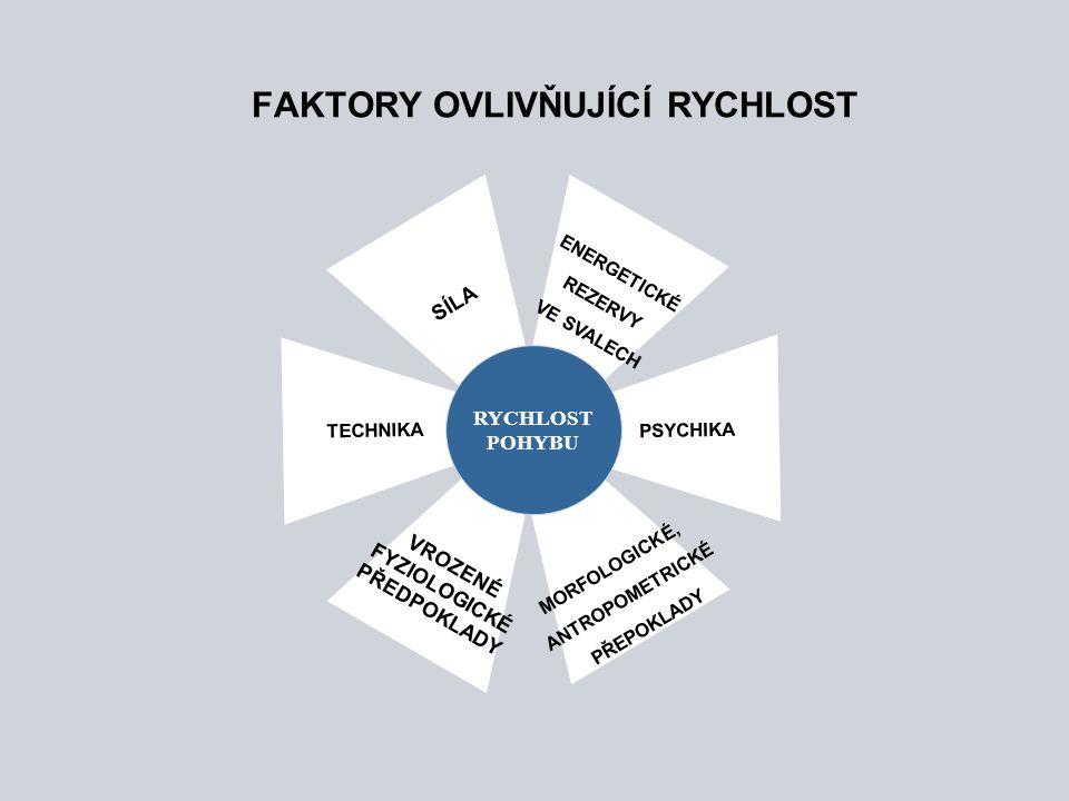 FAKTORY OVLIVŇUJÍCÍ RYCHLOST