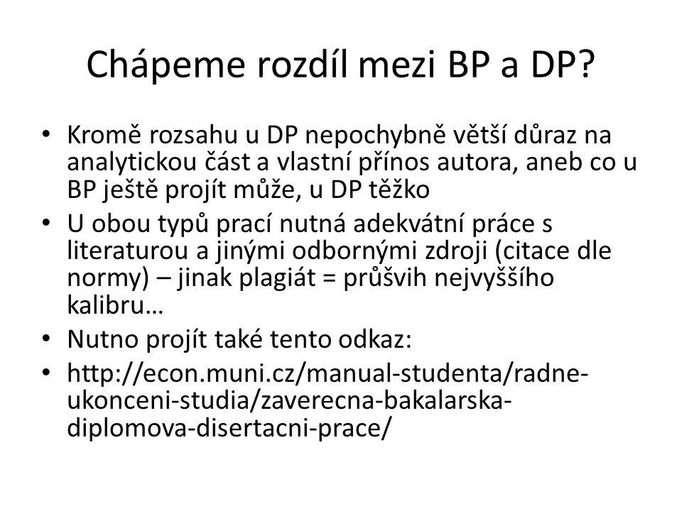 Chápeme rozdíl mezi BP a DP
