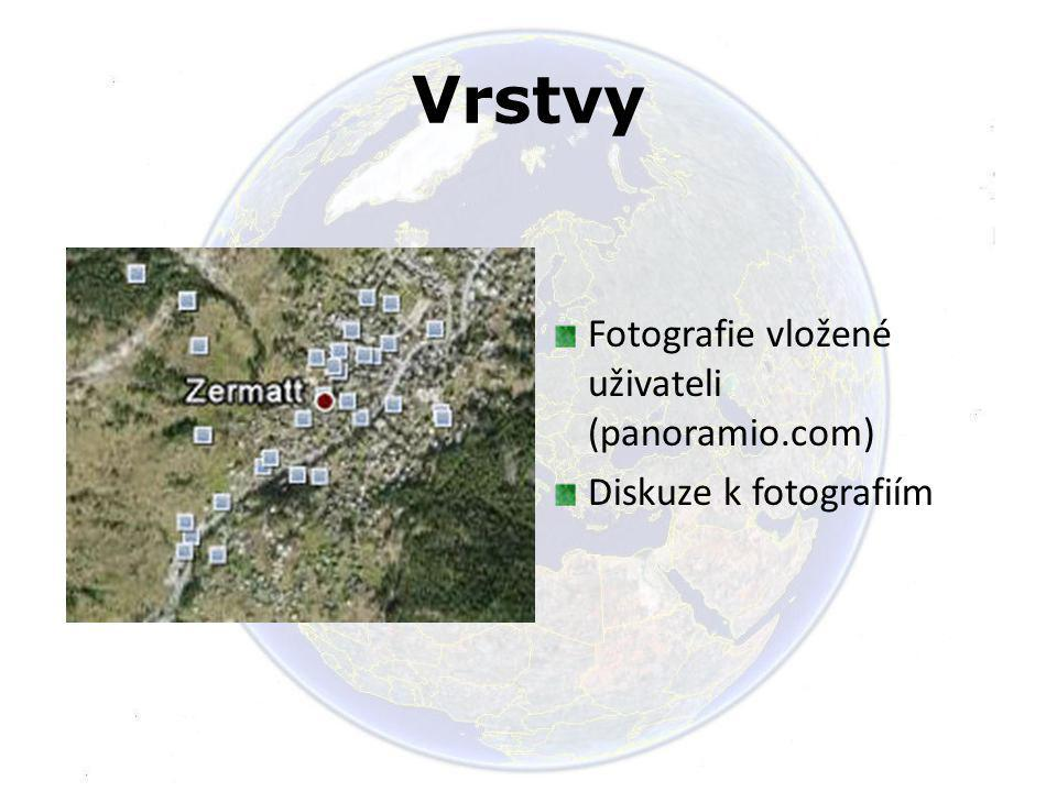 Vrstvy Fotografie vložené uživateli (panoramio.com)
