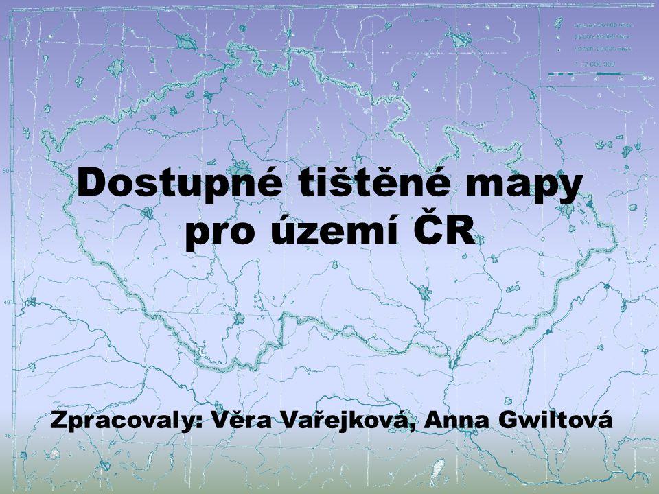 Dostupné tištěné mapy pro území ČR