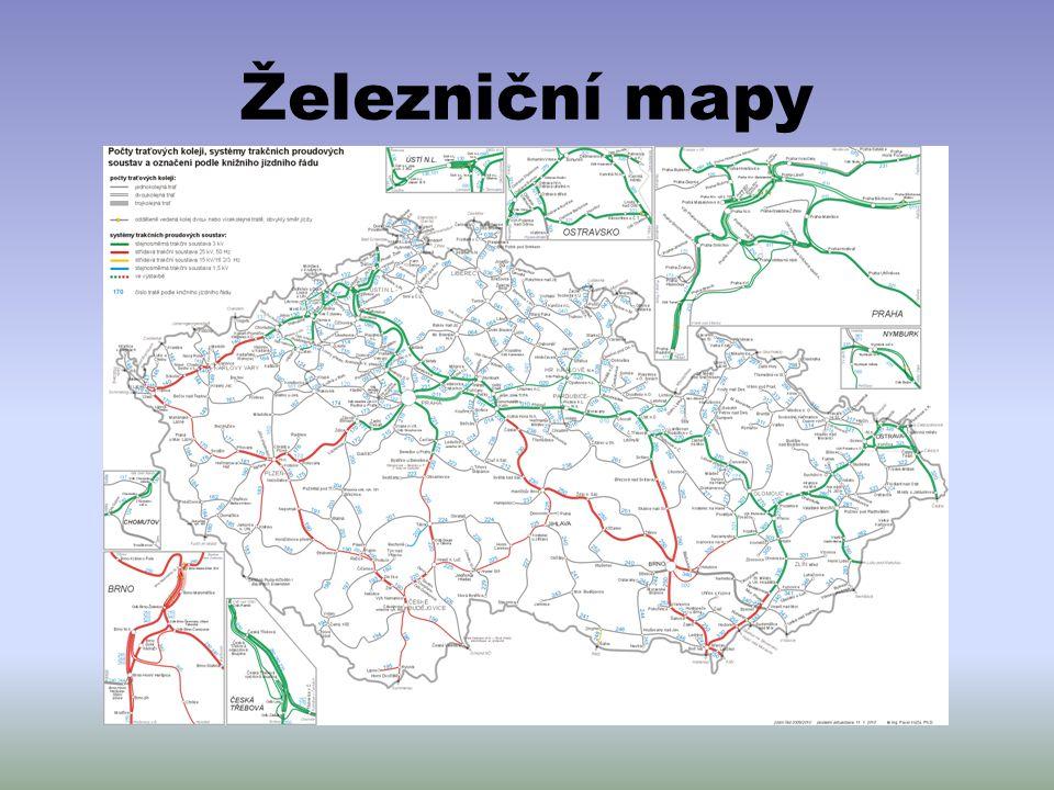 Železniční mapy