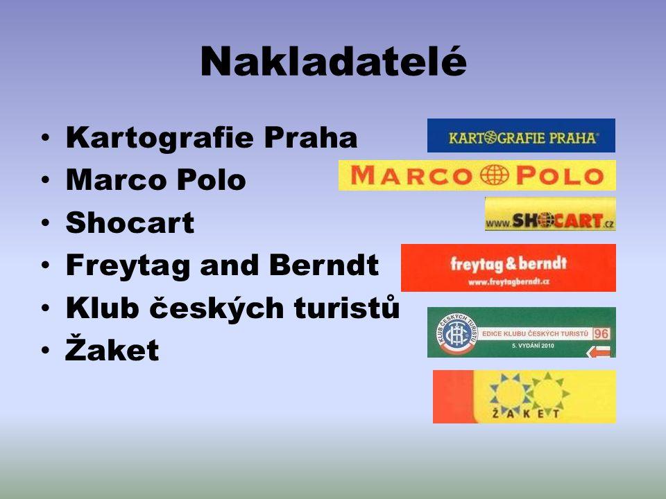 Nakladatelé Kartografie Praha Marco Polo Shocart Freytag and Berndt