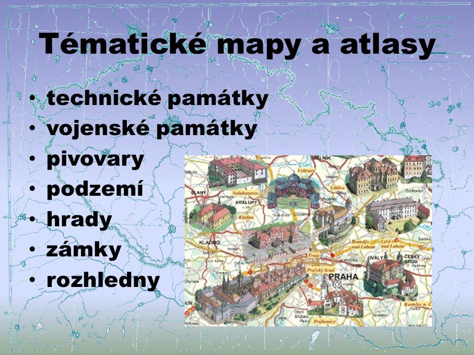 Tématické mapy a atlasy