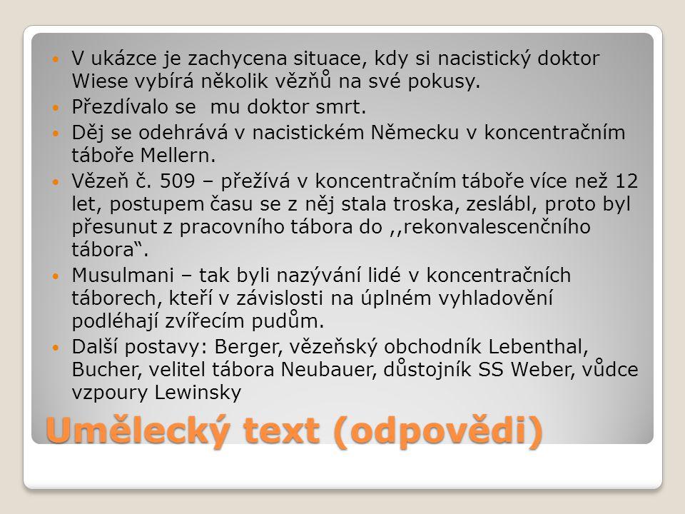 Umělecký text (odpovědi)