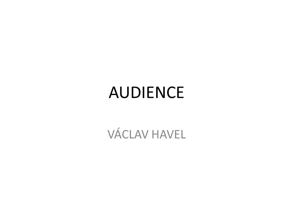 AUDIENCE VÁCLAV HAVEL