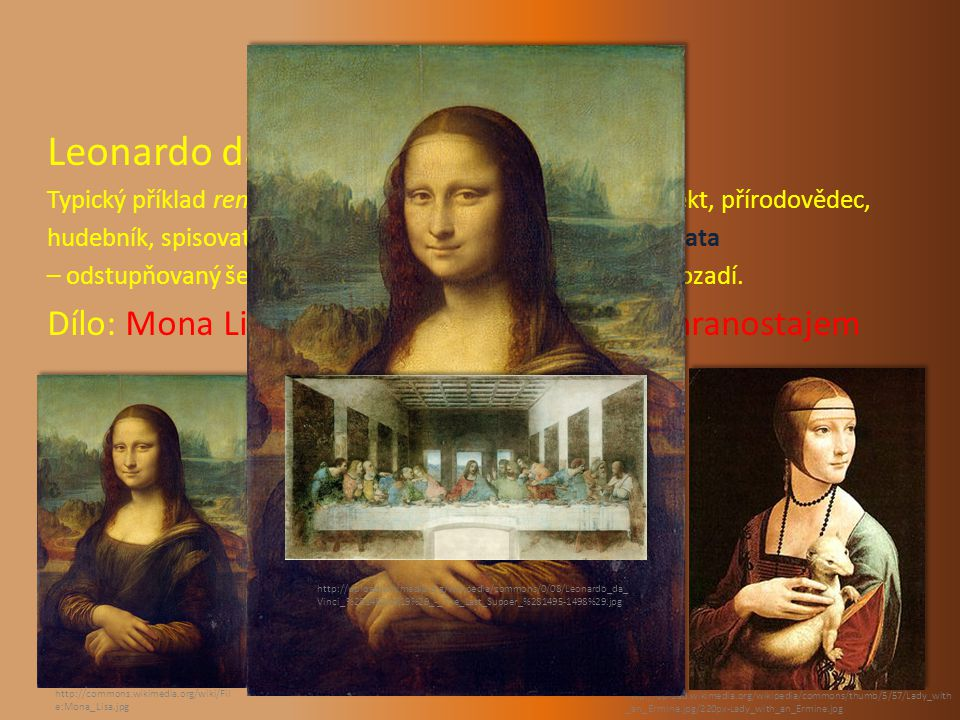 PŘEDSTAVITELÉ Leonardo da Vinci: