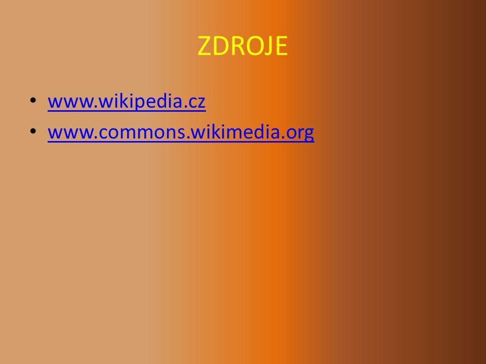 ZDROJE www.wikipedia.cz www.commons.wikimedia.org