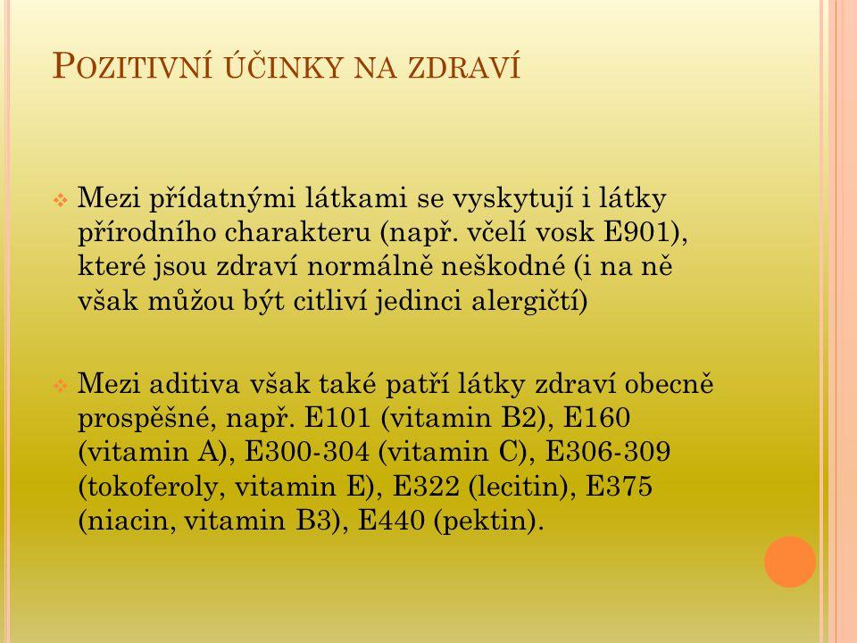 Pozitivní účinky na zdraví