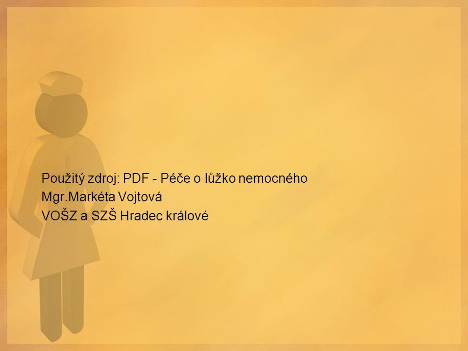 Použitý zdroj: PDF - Péče o lůžko nemocného