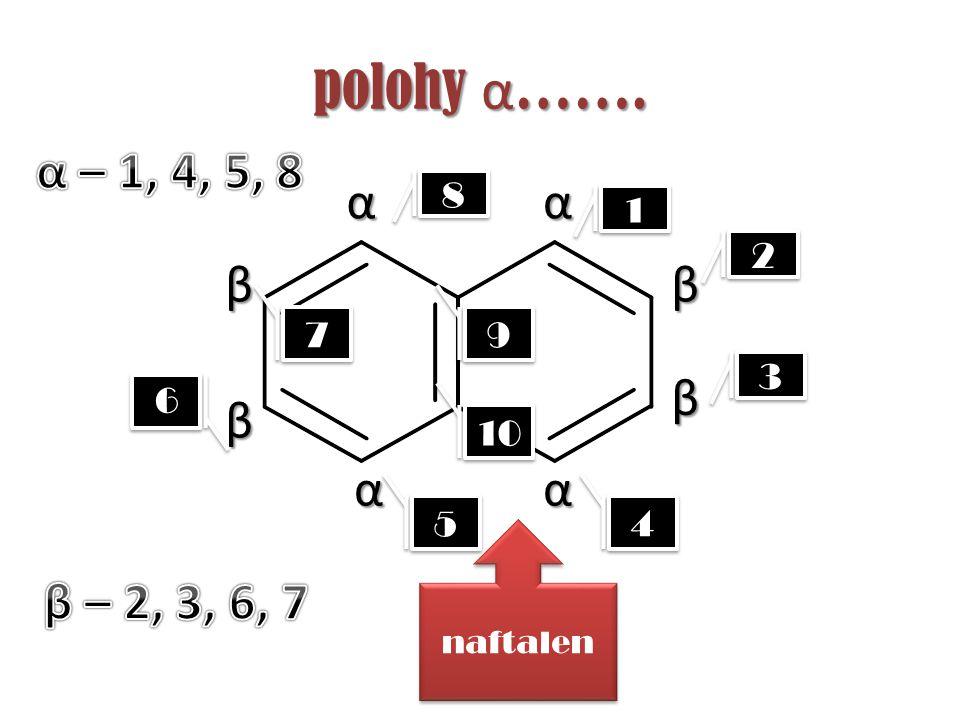 polohy α……. α – 1, 4, 5, 8 α α β β β β α α β – 2, 3, 6, 7 8 1 2 7 9 3