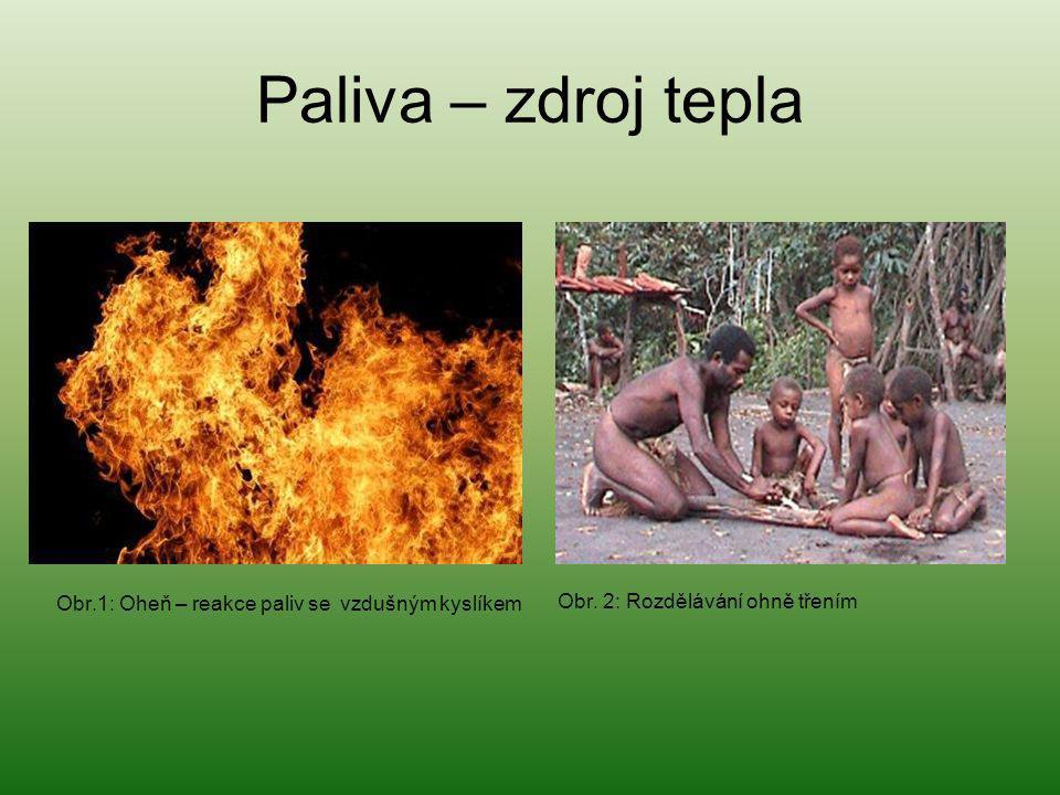 Paliva – zdroj tepla Obr. 2: Rozdělávání ohně třením