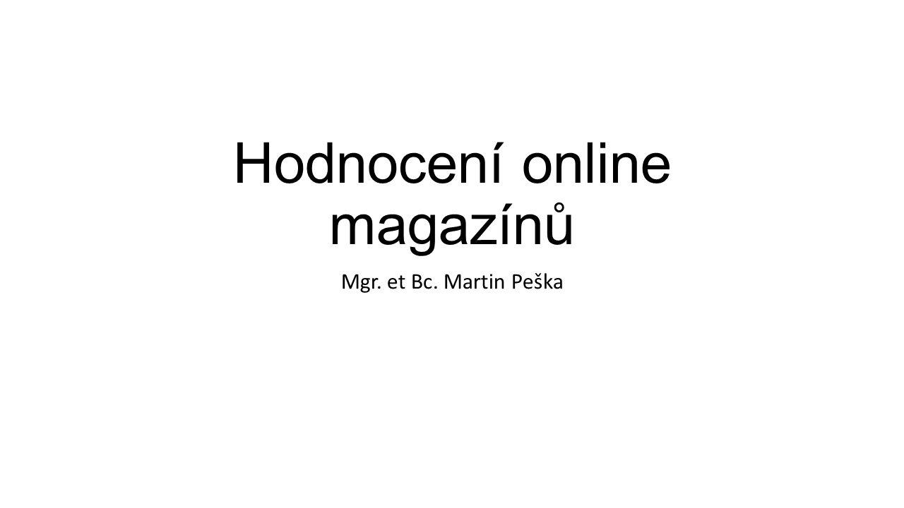 Hodnocení online magazínů