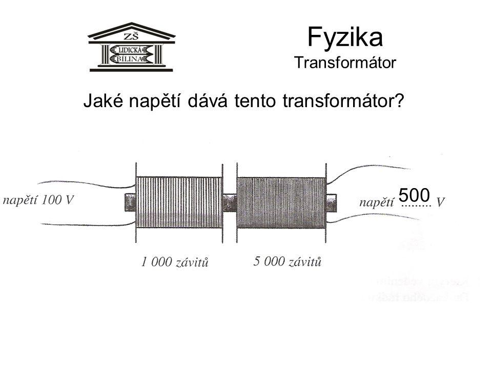 Jaké napětí dává tento transformátor