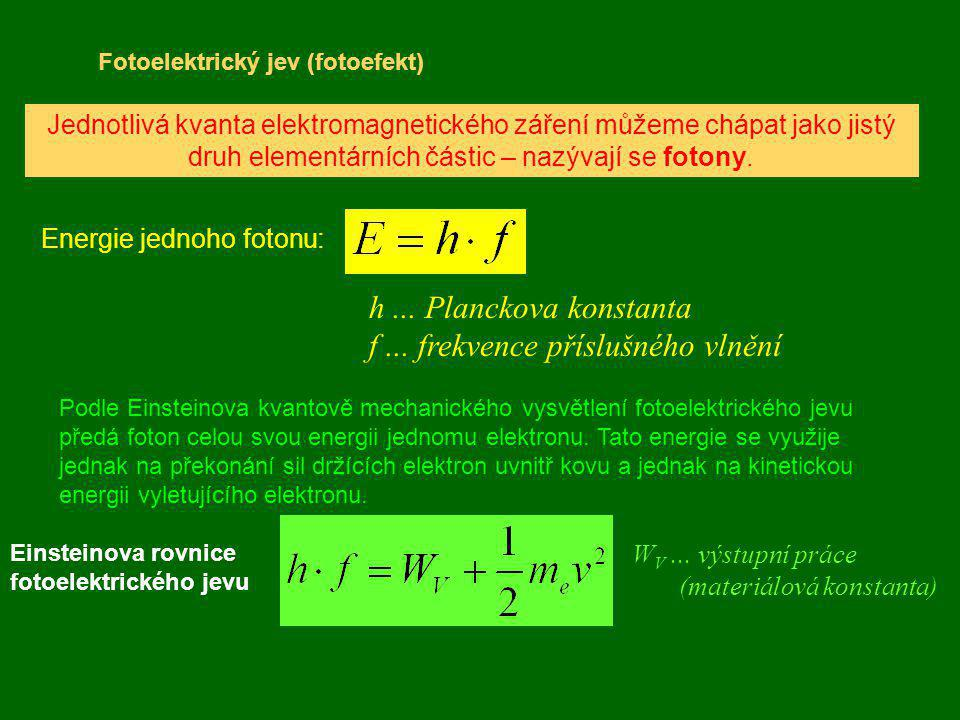 Energie jednoho fotonu: