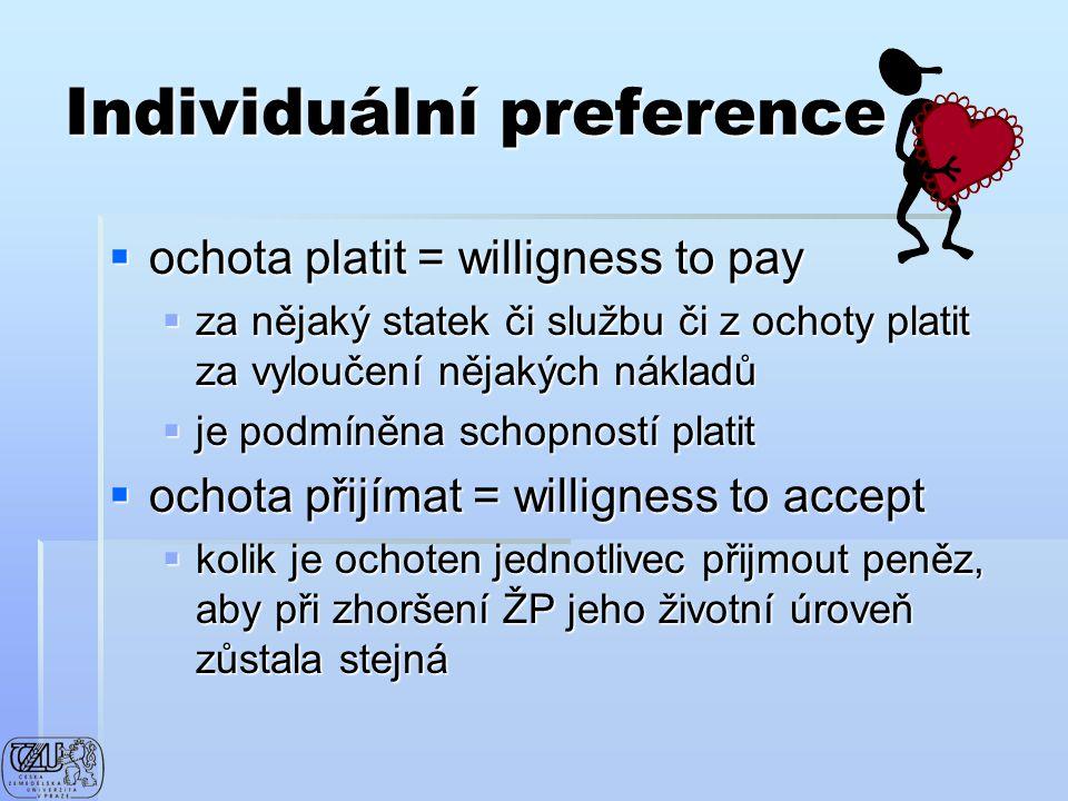 Individuální preference