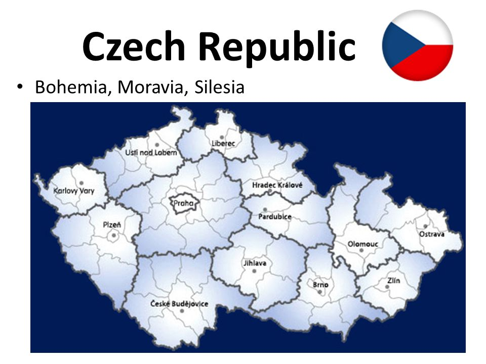 Czech Republic Bohemia, Moravia, Silesia