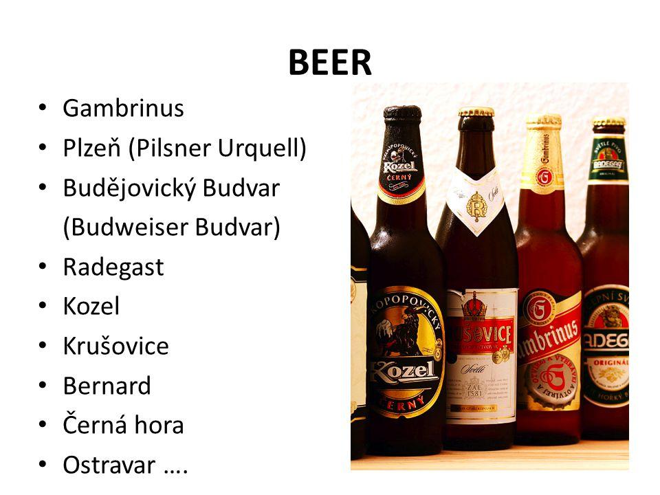 BEER Gambrinus Plzeň (Pilsner Urquell) Budějovický Budvar