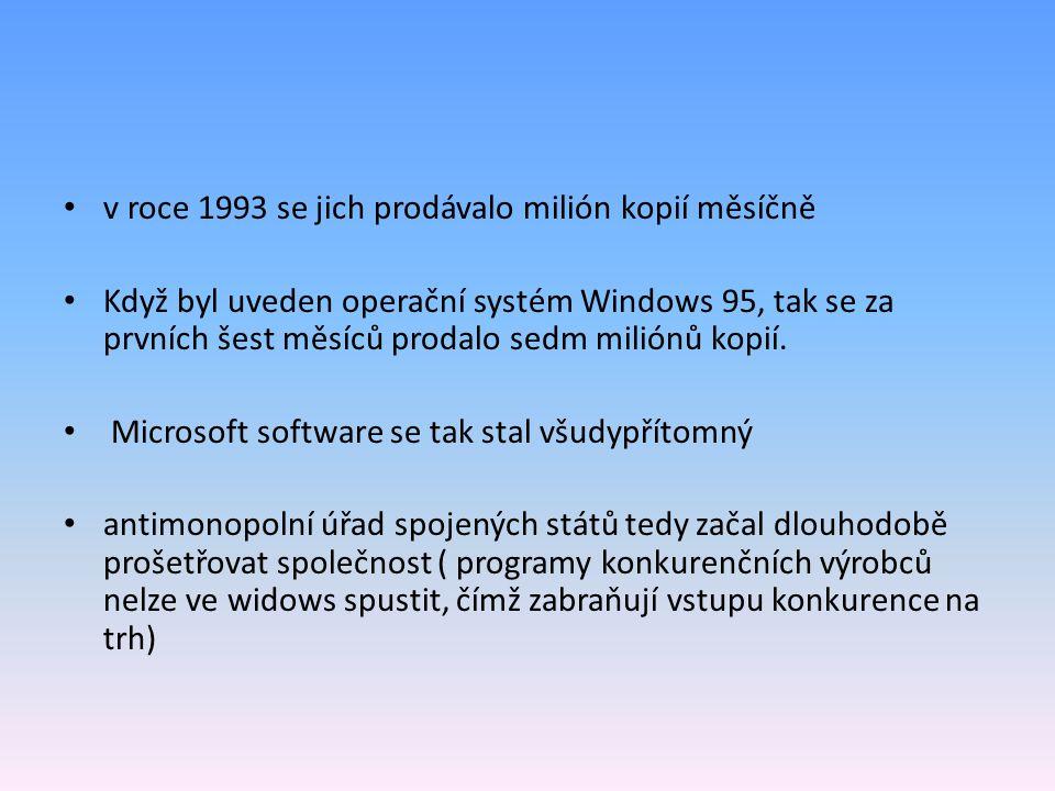 v roce 1993 se jich prodávalo milión kopií měsíčně