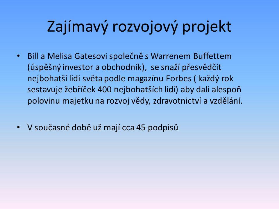 Zajímavý rozvojový projekt