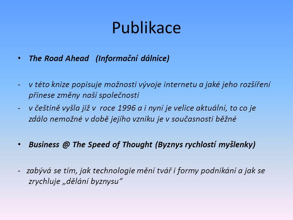 Publikace The Road Ahead (Informační dálnice)