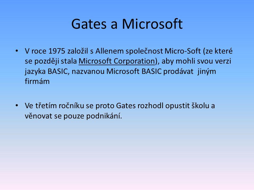 Gates a Microsoft