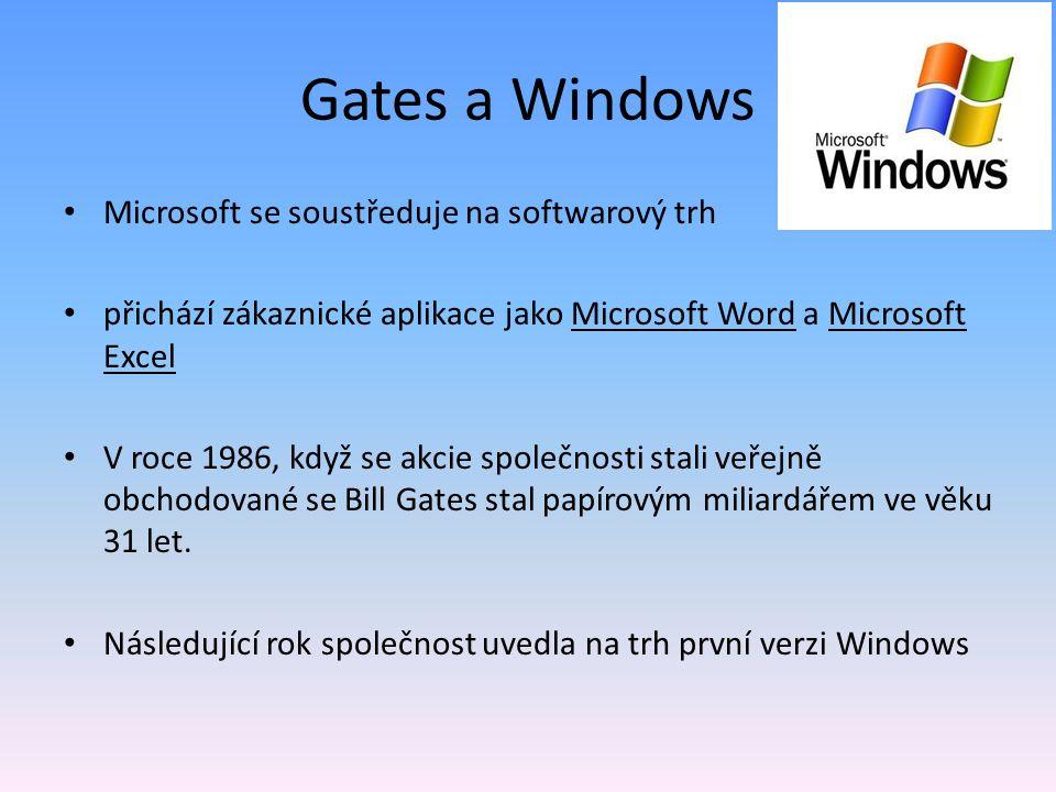 Gates a Windows Microsoft se soustředuje na softwarový trh