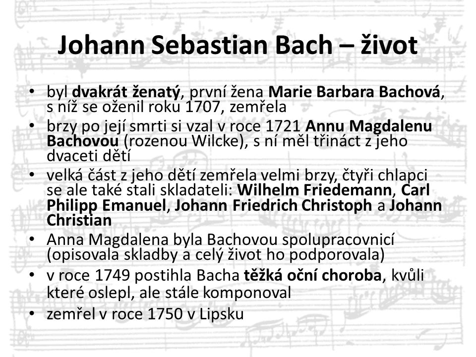 Johann Sebastian Bach – život