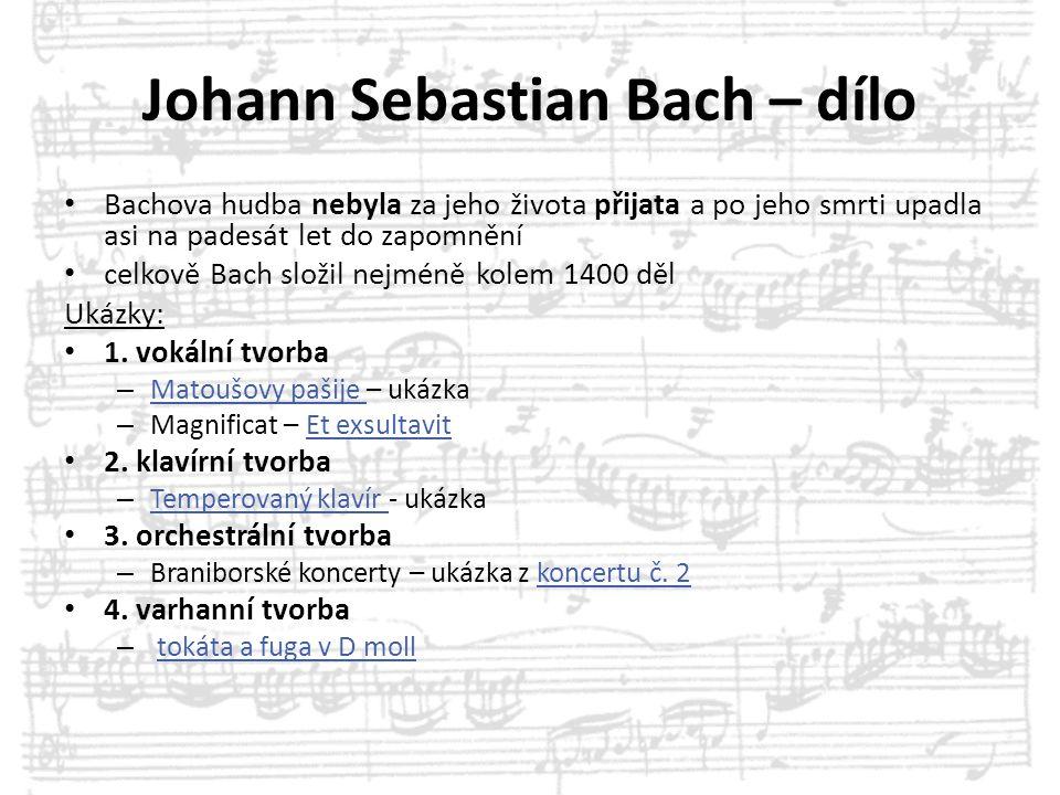 Johann Sebastian Bach – dílo