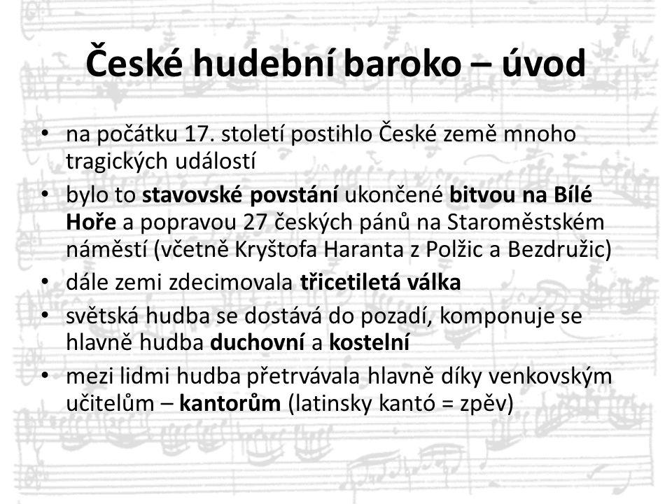 České hudební baroko – úvod