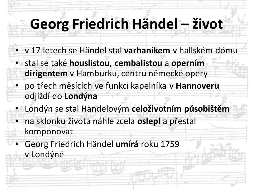 Georg Friedrich Händel – život