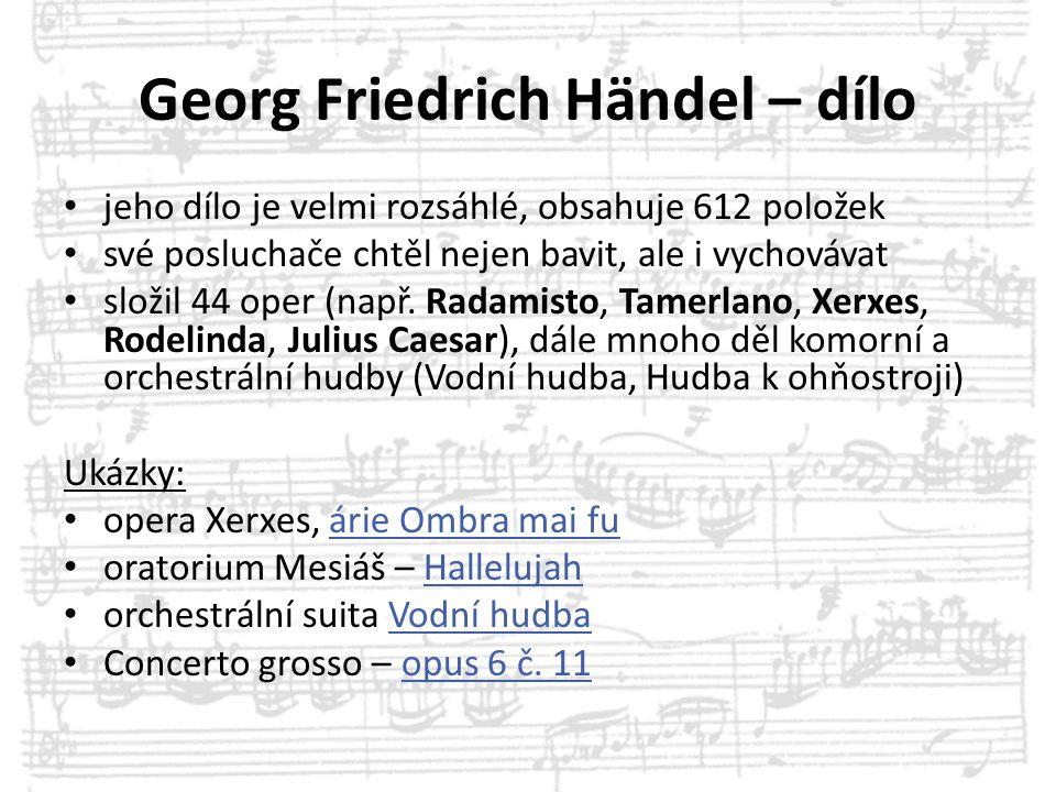 Georg Friedrich Händel – dílo