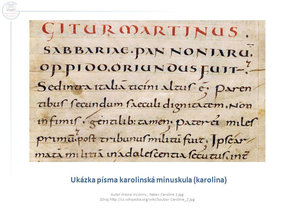 Ukázka písma karolinská minuskula (karolina)