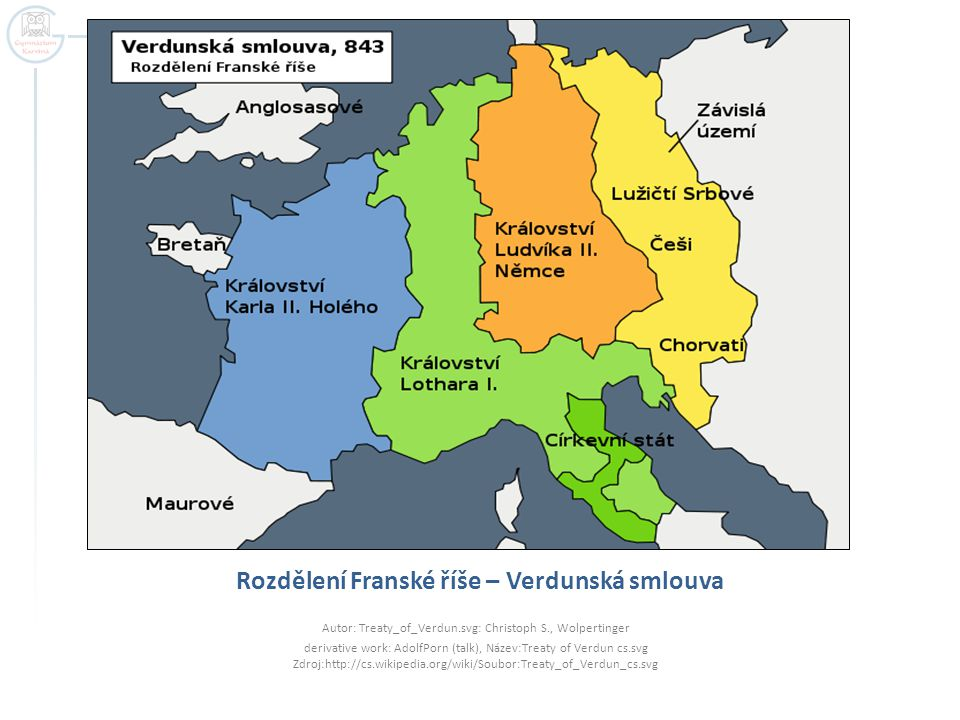 Rozdělení Franské říše – Verdunská smlouva