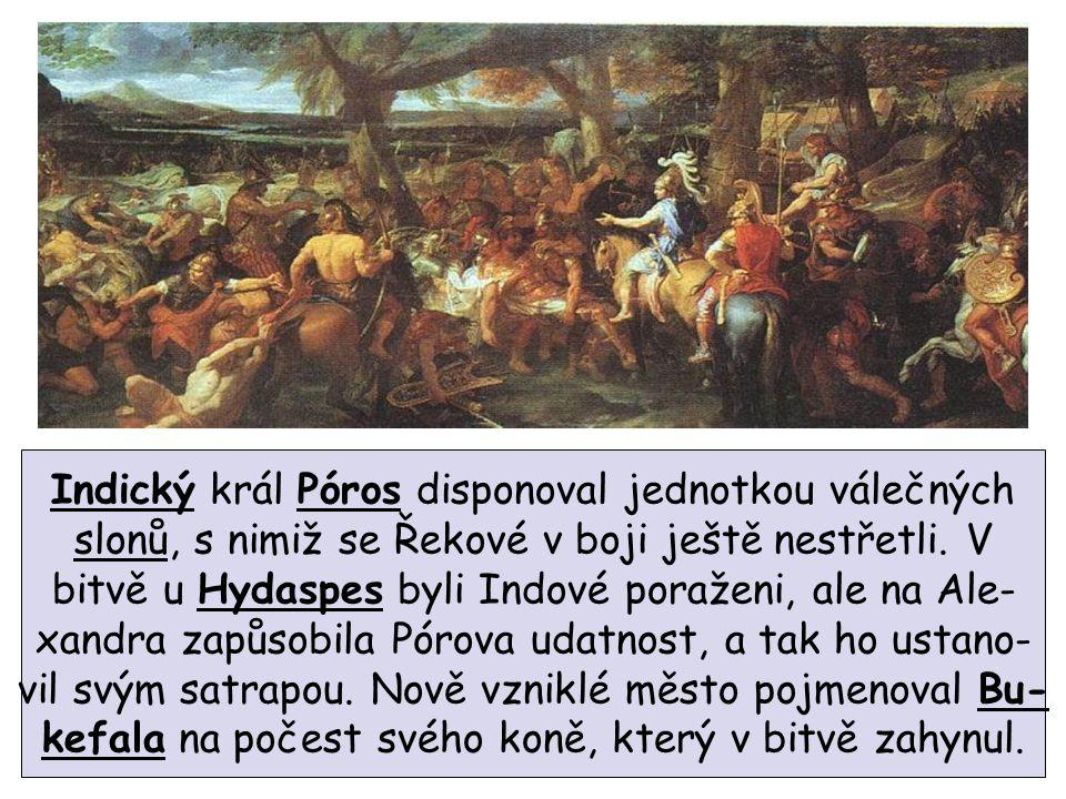 Indický král Póros disponoval jednotkou válečných