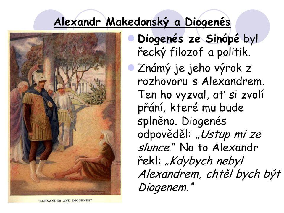 Alexandr Makedonský a Diogenés