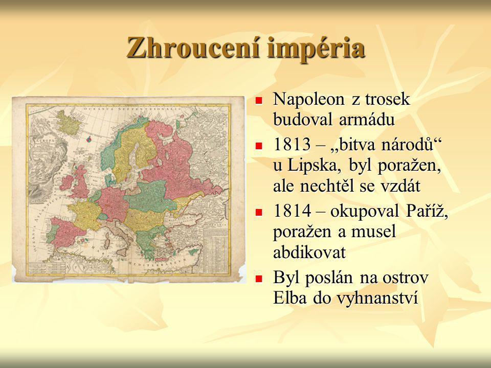 Zhroucení impéria Napoleon z trosek budoval armádu