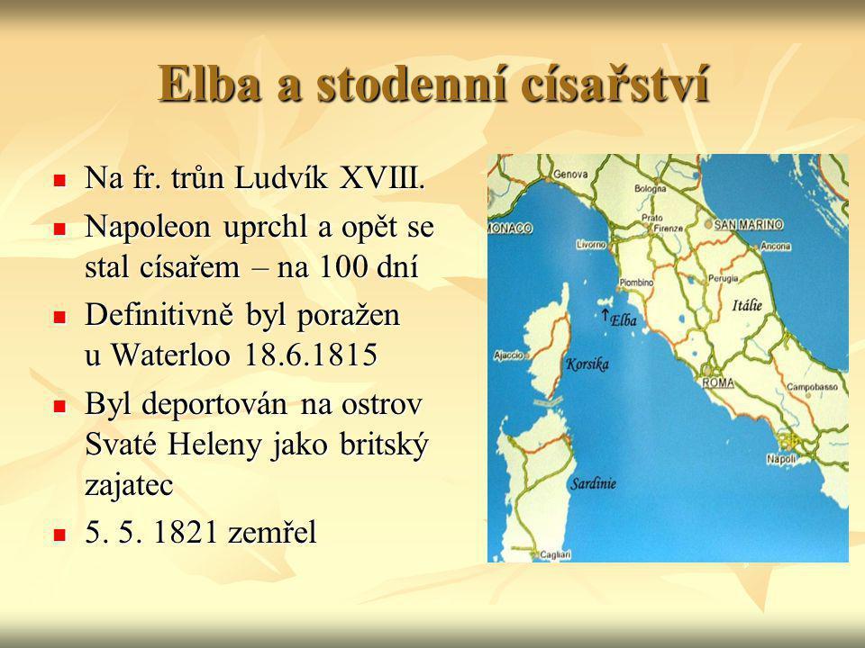 Elba a stodenní císařství