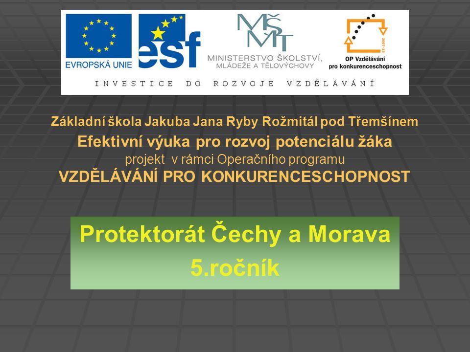 Protektorát Čechy a Morava 5.ročník