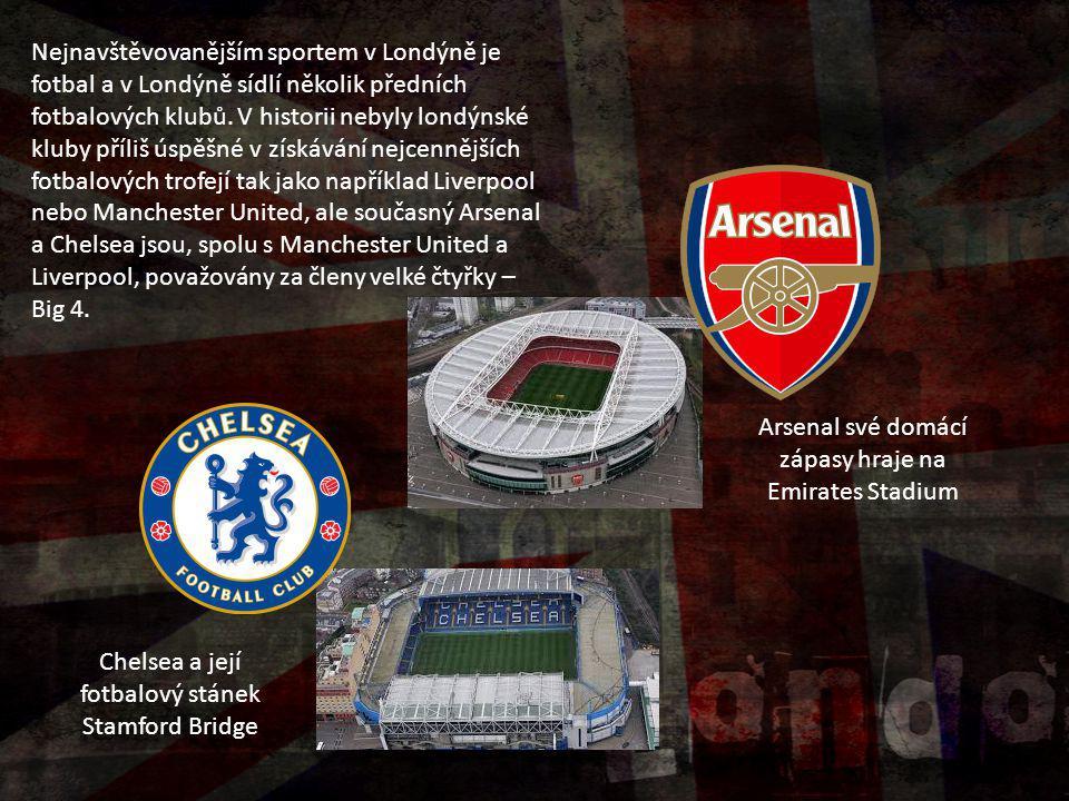 Arsenal své domácí zápasy hraje na Emirates Stadium