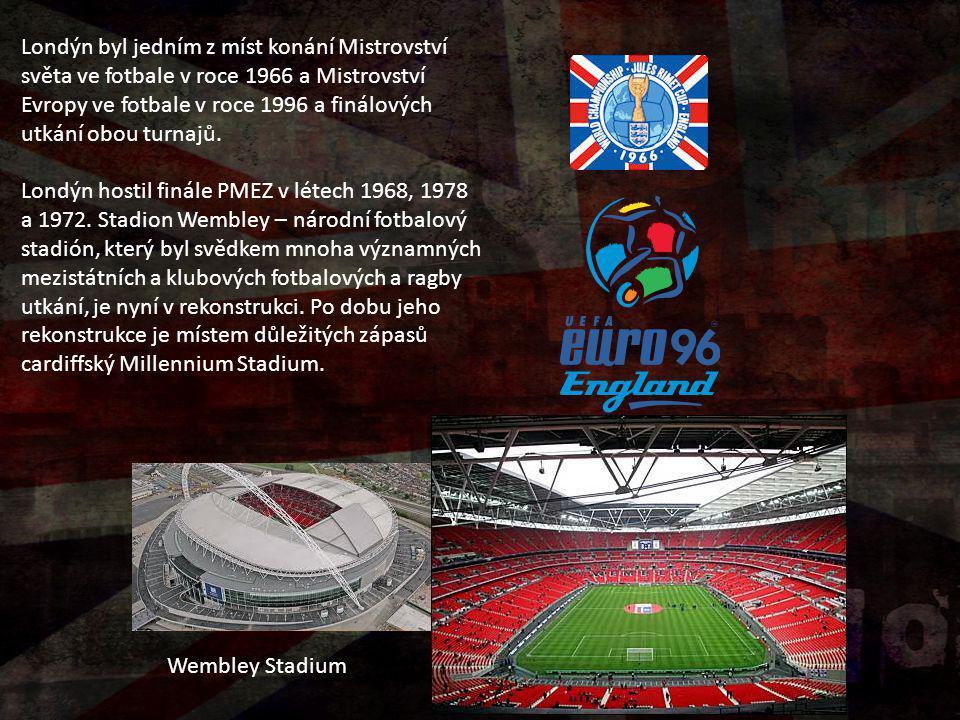 Londýn byl jedním z míst konání Mistrovství světa ve fotbale v roce 1966 a Mistrovství Evropy ve fotbale v roce 1996 a finálových utkání obou turnajů.