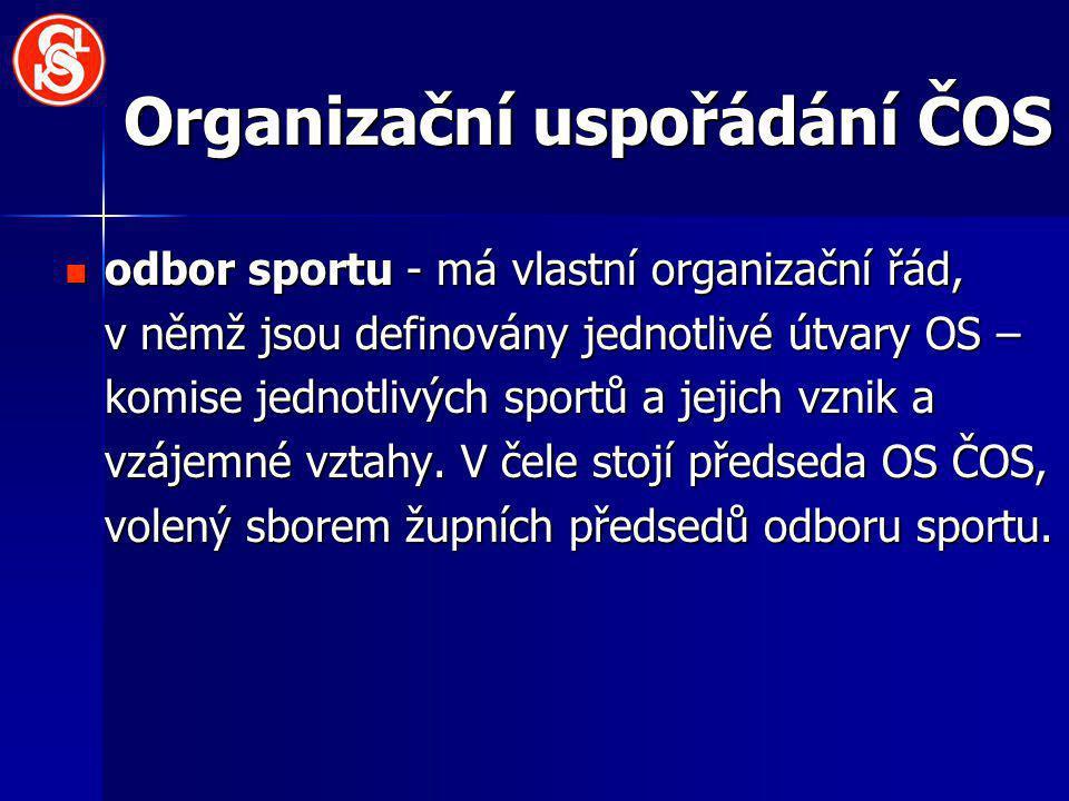 Organizační uspořádání ČOS