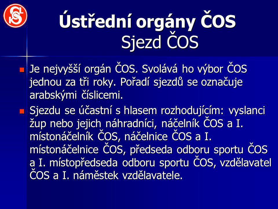 Ústřední orgány ČOS Sjezd ČOS