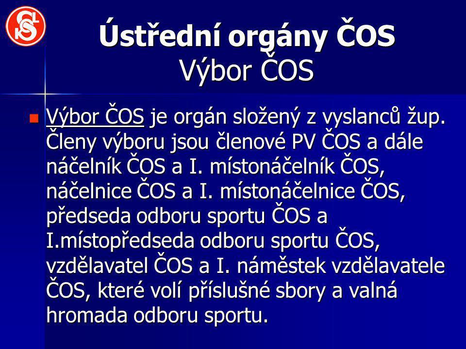Ústřední orgány ČOS Výbor ČOS