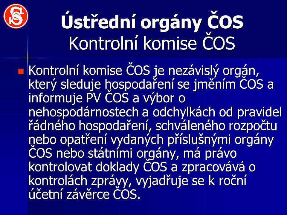 Ústřední orgány ČOS Kontrolní komise ČOS