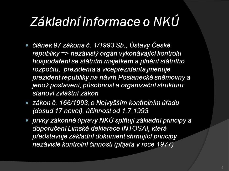 Základní informace o NKÚ