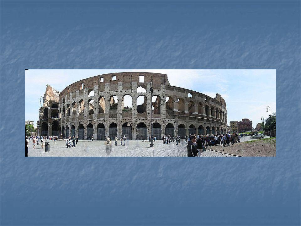 Koloseum se nachází východně od Fora Romana