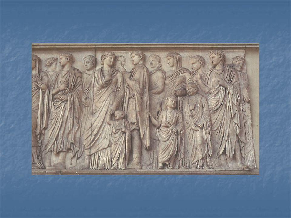 Ara Pacis v Římě – jedná se o první monument císařského období, bohatě dekorovaný oltář, postavený mezi léty 13 a 9 př.n.l.