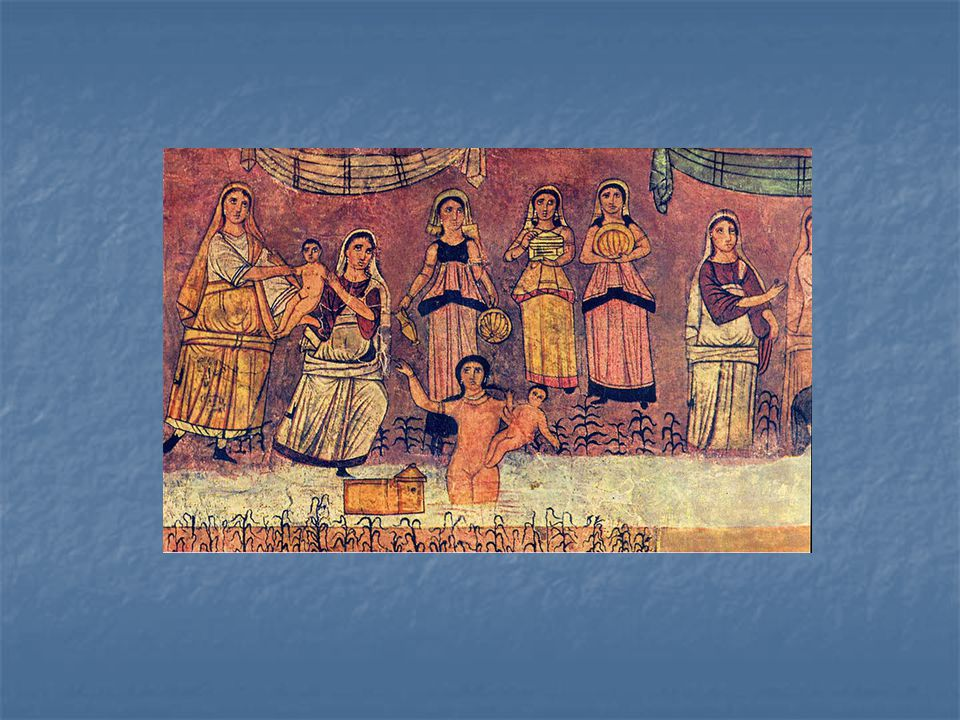 Freska s nalezením Mojžíše v řece, 244 – 255 n.l.