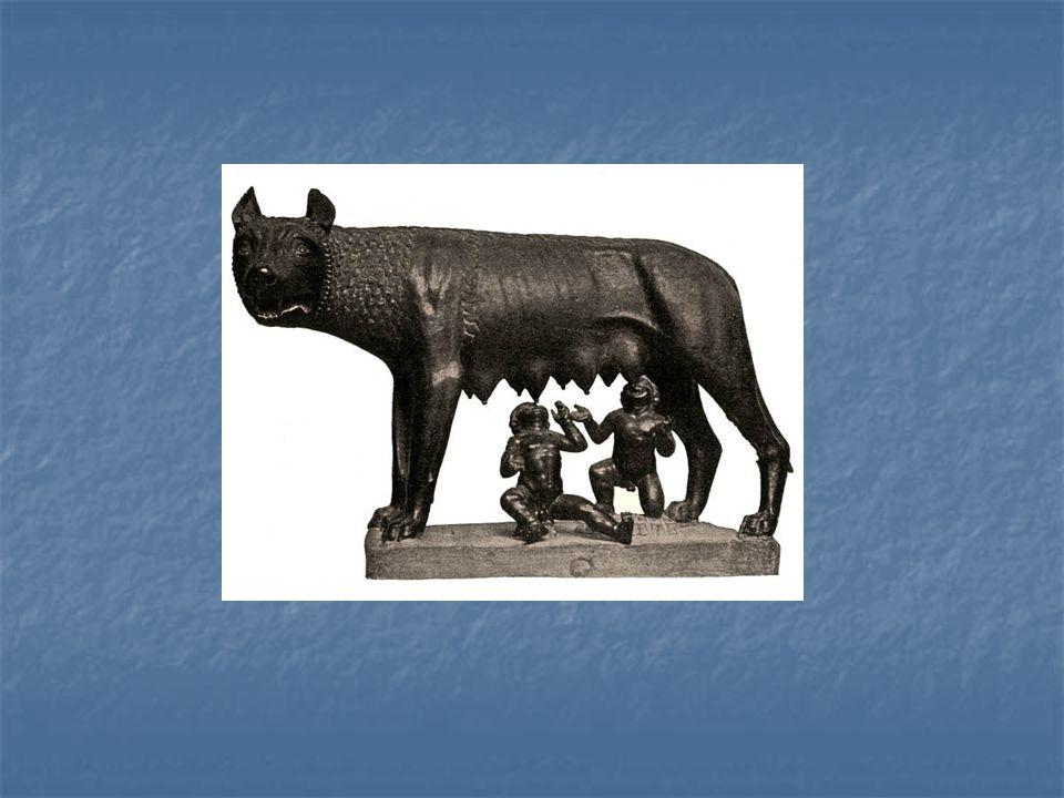 Bronzová socha kapitolské vlčice s Romulem a Remusem, 6. – 5. stol. př