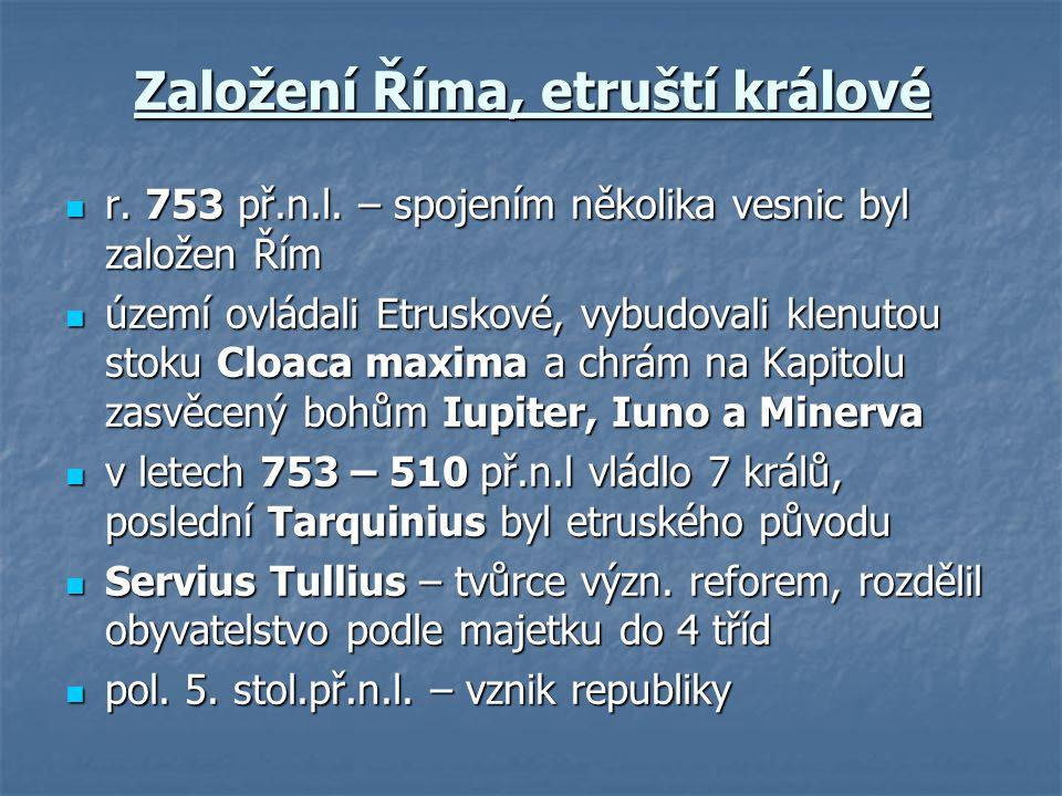 Založení Říma, etruští králové